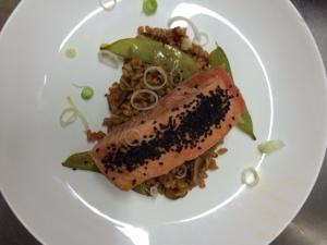 Salmon con Farro